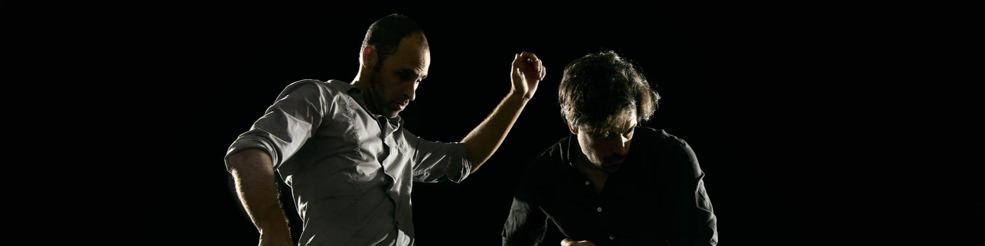Promo shoot, Accolades et quiproquos, Les Archipels; avec Philippe Meunier et Ian Yaworski; Crédit : Vitor Munhoz. 2020.